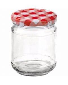 Zaváracie poháre 212 ml viečko červené, pre marmelády Gastro