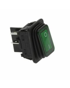 Kolieskový prepínač,  zelený 250V 20A