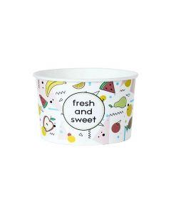 Papierový zmrzlinový pohár 130 ml FRESH and SWEET / 25 ks