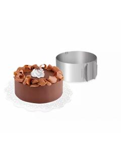 Nastaviteľná forma na tortu guľatá