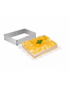 Nastaviteľná forma na tortu obdĺžníková