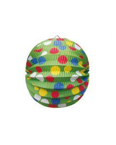 Lampión okrúhly PARTY zelený Ø 24 cm [1 ks]