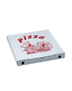 Krabica na pizzu z vlnitej lepenky 28 x 28 x 3 cm [100 ks]