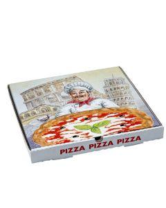 Krabica na pizzu z vlnitej lepenky 33 x 33 x 3 cm [100 ks]