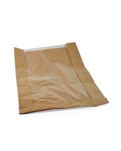 Pap. vrecká s okienkom - chlieb okrúhly (26+7 x 40 cm, ok.19 cm) [1000 ks]