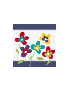 Obrúsky 3-vrstvé, 33 x 33 cm SUMMER FLOWERS [20 ks]