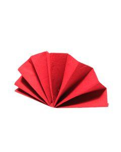 Obrúsky DekoStar 40 x 40 cm červené [40 ks]