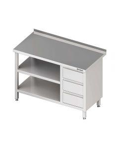 Pracovný stôl so zásuvkami - s policou 1100x700x850mm