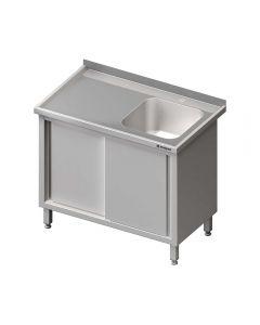 Umývací stôl krytovaný s drezom - posuvné dvere 1600x600x850mm