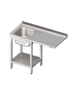 Umývací stôl s priestorom pre podstolovú umývačku – PRAVÝ 1300mm