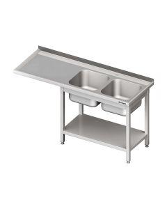 Umývací stôl s priestorom pre podstolovú umývačku – LAVÝ 2000mm