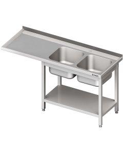 Umývací stôl s priestorom pre podstolovú umývačku – LAVÝ 2400mm