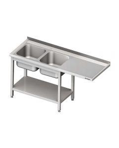 Umývací stôl s priestorom pre podstolovú umývačku – PRAVÝ 2200mm