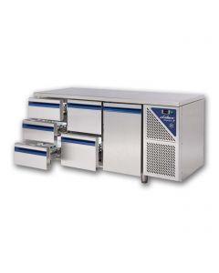 Chladiaci stôl DALMEC so zásuvkami a dvierkami - v kombinácii ( P11): dvierka+trojzásuvka+trojzásuvka