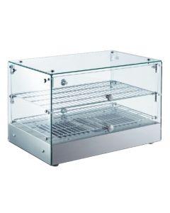 Ohrevná vitrína LINOREX® MINI – hranata – dvojpolicova