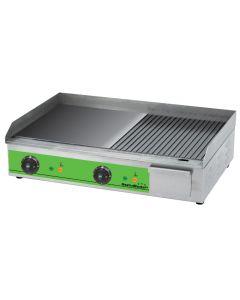 Elektrická grilovacia platna GastroMarket, hladká/ryhovaná