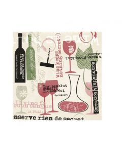 Servítky bon Vin 40x40 Linclass, Mank