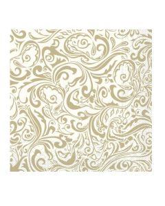 Servítky papier 100 ks LIAS champagner-hellbraun 40x40, Mank