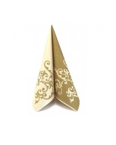 Servítky Airlaid Pomp 40x40cm (Mank) Gold-Creme